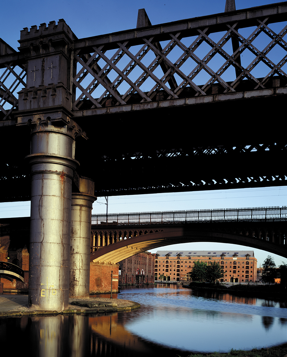 Regeneration of city centre canals in Castlefield, Manchester.
